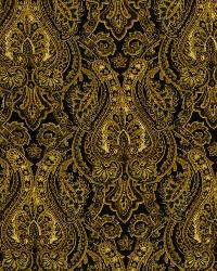Black Classic Paisley Fabric  Lashina Lava