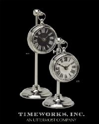 Pocket Watch Marchant Black Clock by