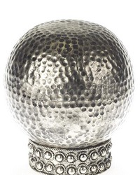 Hammered Ball Curtain Rod Finial Antique Silver 42 by