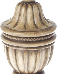 Decorative Urn Curtain Rod Finial Tinted Birch 39 by