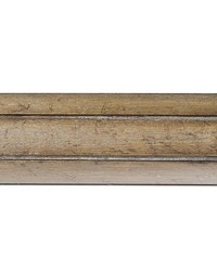 4ft 2inD Fluted Wood Curtain Rod Driftwood 38 by