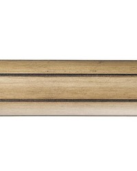 4ft 2inD Fluted Wood Curtain Rod Tinted Birch 39 by