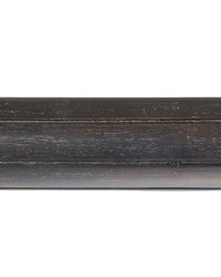 6ft 2inD Fluted Wood Curtain Rod Onyx 37 by