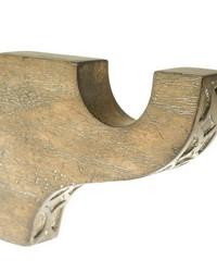Standard Curtain Rod Bracket Driftwood 38 by