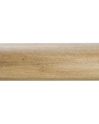 4ft 2inD Plain Wood Curtain Rod Tinted Birch 39 by