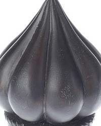 Onion Curtain Rod Finial Onyx 37 by