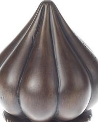 Onion Curtain Rod Finial Chocolate 40 by