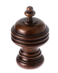 Saturn Curtain Rod Finial Cherry 20 by