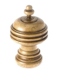Saturn Curtain Rod Finial Honey Maple 21 by