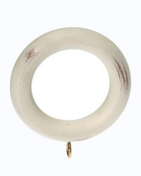 Plain Wood Curtain Ring Aged White 06 by