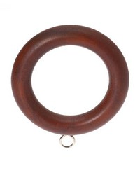 Plain Wood Curtain Ring Mahogany 09 by