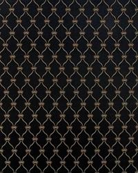 Black Trellis Diamond Fabric  Boheme Black