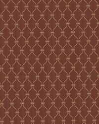 Red Trellis Diamond Fabric  Boheme Brick