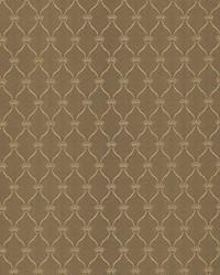 Gold Trellis Diamond Fabric  Boheme Bronze