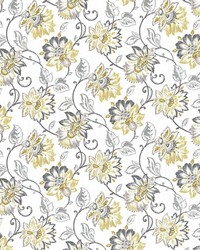 Gold Jacobean Fabrics  Brookmere Gold