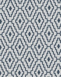 Blue Classic Paisley Fabric  Cabruna Blue