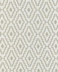 Silver Classic Paisley Fabric  Cabruna Silver