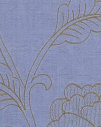 Multi Jacobean Floral Fabric  Capone Sky