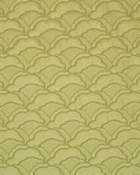 Green Oriental Fabric  Cloudburst Pistachio