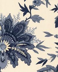 Blue Jacobean Fabrics  Coram Indigo