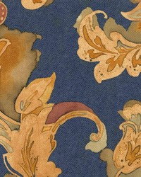 Blue Jacobean Fabrics  Corrigan Navy