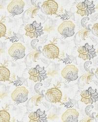 Silver Jacobean Fabrics  Delacroix Chrome