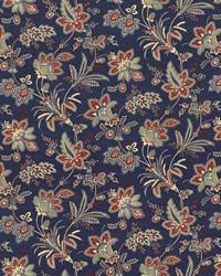 Multi Jacobean Floral Fabric  Evanston Americana