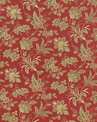 Red Jacobean Fabrics  Evanston Vintage Red