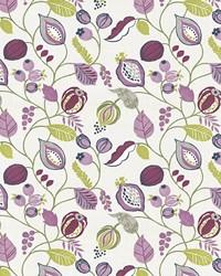 Multi Jacobean Fabrics  Gardens Edge Damson