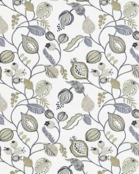 Beige Jacobean Fabrics  Gardens Edge Linen