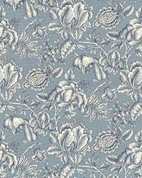 Blue Jacobean Fabrics  Howell Park Aqua