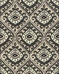 Black Trellis Diamond Fabric  Jacaranda Graphite