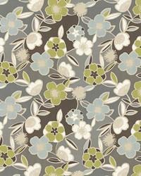 Grey Modern Floral Designs Fabric  Jardiniere Slate