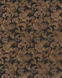 Black Classic Paisley Fabric  Jessup Black