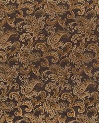 Brown Classic Paisley Fabric  Jessup Coffee