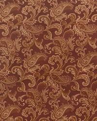 Orange Classic Paisley Fabric  Jessup Rust