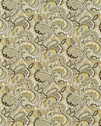 Silver Classic Paisley Fabric  Mukkara Paisley Sterling