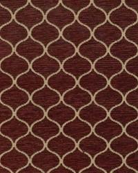 Red Trellis Diamond Fabric  Ogee Trellis Crimson