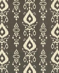 White Trellis Diamond Fabric  Raga Ikat Ink