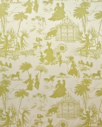 Multi French Country Toile Fabric  Royal Pavillion Endive