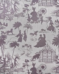 Purple French Country Toile Fabric  Royal Pavillion Lilac