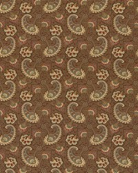 Brown Classic Paisley Fabric  Sigourney Driftwood
