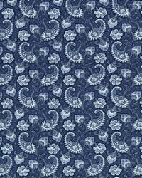 Blue Classic Paisley Fabric  Sigourney Indigo