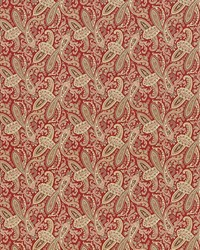 Red Classic Paisley Fabric  Willow Paisley Crimson