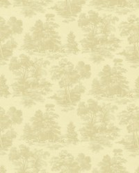 Beige French Country Toile Fabric  Abington Garden Alabaster