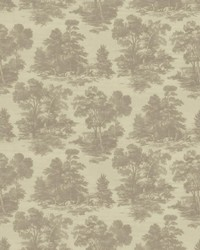 Silver French Country Toile Fabric  Abington Garden Platinum