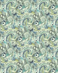 Abstract Paisley Blue Lagoon by