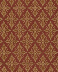 Floral Diamond Fabric  Chartwell Crest Spice