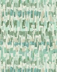 Green Abstract Fabric  Everdeen Seafoam