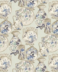 Blue Oriental Fabric  Turandot Indigo